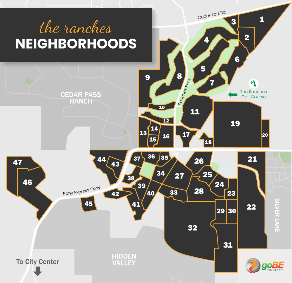 The Ranches at Eagle Mountain Neighborhood Map
